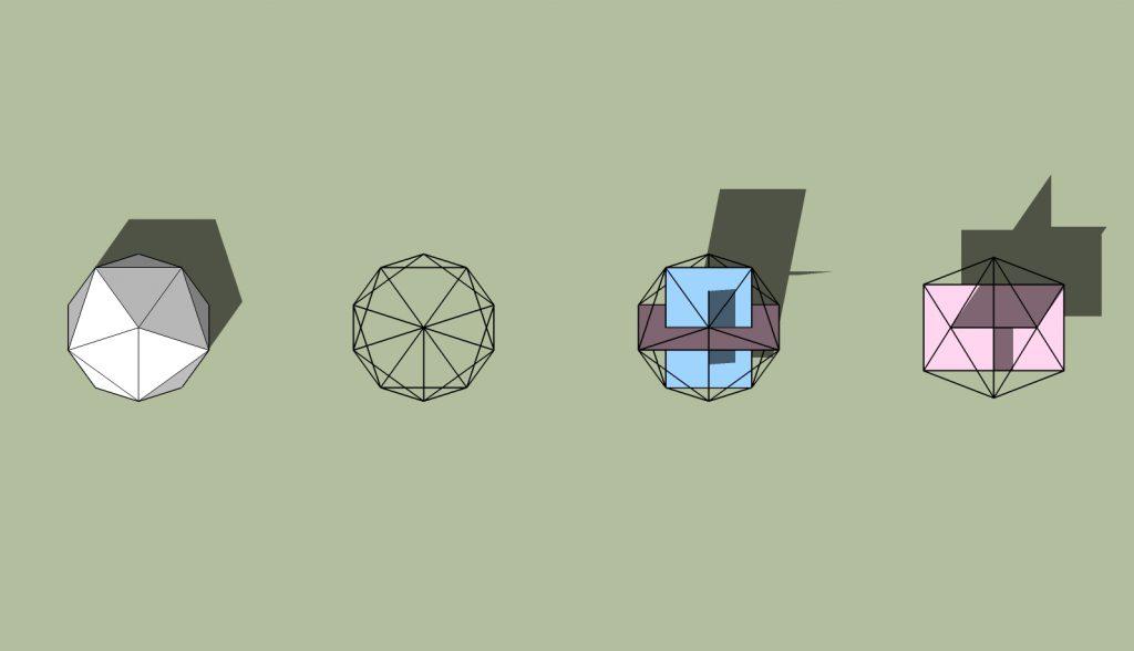 geodesicの中の黄金比長方形01_1