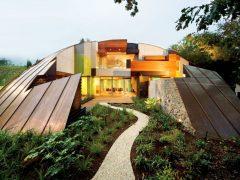 オーストラリア・メルボルンの銅板で包まれたドームハウス