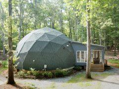アメリカ・ノースカロライナ州の間仕切りのないドームハウス