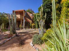 アメリカ・カリフォルニア州のラモナにあるサボテンに囲まれたドームハウス