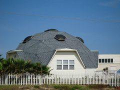 アメリカのテキサス州ポートアランサスにあるドームハウス