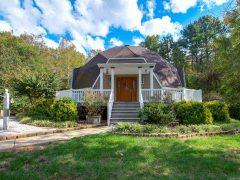 アメリカのノース・カロライナ州コンコードにあるドームハウス