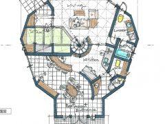 店舗併用型の12mドームハウス