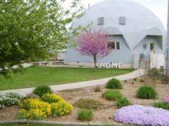 アメリカのイリノイ州サリバンにあるドームハウス