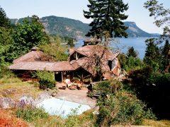 カナダのブリティッシュコロンビア州ダンカンにあるドームハウス