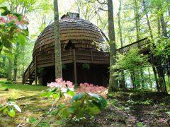アメリカのノースカロライナ州グラッシークリークにあるドームハウス