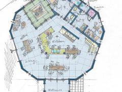 14Mドーム 大型センターキッチン案