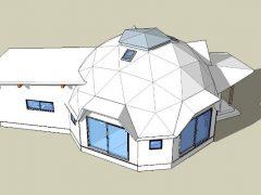 9mドーム・エクステンション付きの3d考察動画